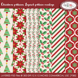 Christmas pattern overlays, Christmas paper templates, PSD layered templates