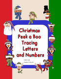 Christmas peek a Boo Tracing letters and Numbers