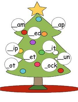 Christmas phonics centers
