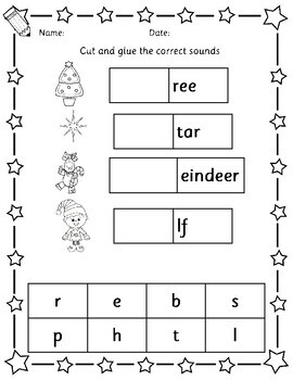 christmas phonics handwriting vocabulary worksheets by. Black Bedroom Furniture Sets. Home Design Ideas