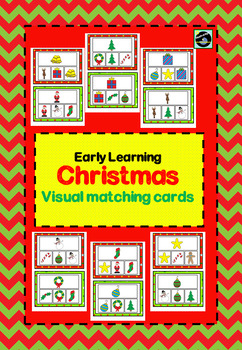 Christmas picture matching cards