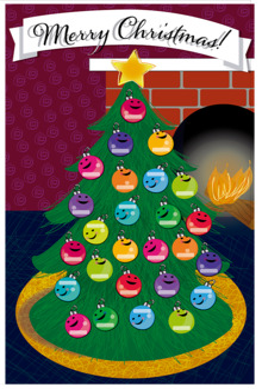 Christmas poster and name tags