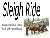 "Christmas powerpoint to ""Sleigh Ride"""
