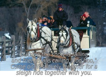 """Christmas powerpoint to """"Sleigh Ride"""""""