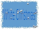 "Christmas powerpoint to ""White Christmas"""