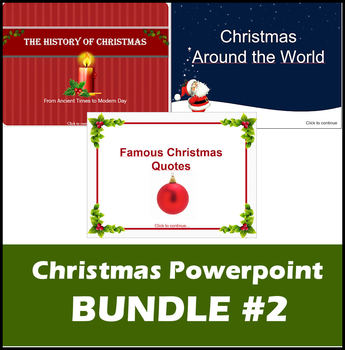 Christmas ppt BUNDLE #2 - History of Christmas, Around the World (+) Quotes