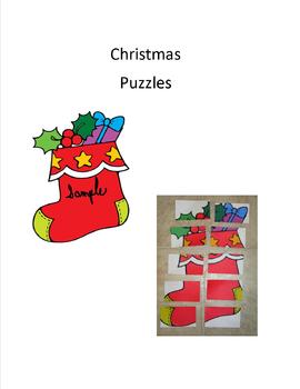 Christmas puzzles-set of three