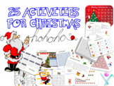 Christmas activities: printables games and interactive pow