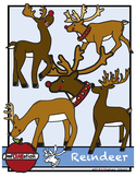 Christmas reindeer cliparts