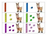 Christmas reindeer tens and ones