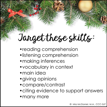 Reading Comprehension Passages & Questions: Christmas Around the World