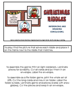 Christmas riddles