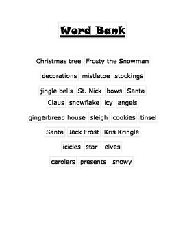 Christmas /s/ Word Scramble