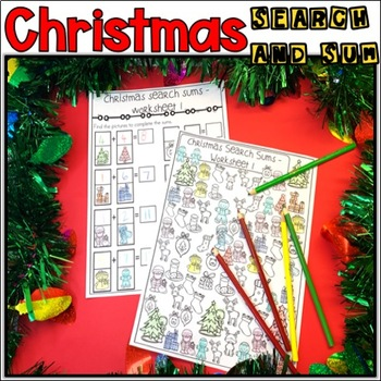 Christmas search and sum {FREEBIE}