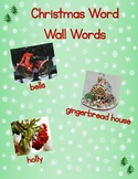 Christmas (secular) Word Wall Words - Pictures First