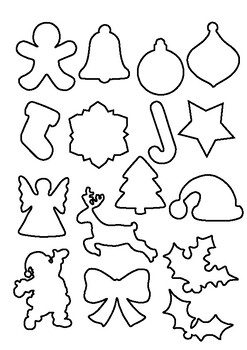 Christmas shapes templates by keryl | Teachers Pay Teachers