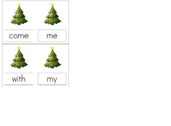 Christmas sight word cards