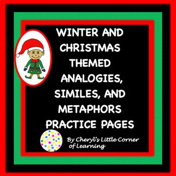 Christmas Analogies, Similes, and Metaphors Practice