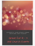 Christmas Acrostic Poem for Performance K-3