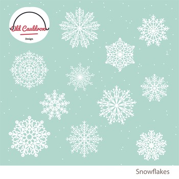 Christmas Snowflakes.Christmas Snowflake Clipart Holiday Clipart Winter Vector Clipart Cl005