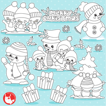 Christmas snowman stamps,  commercial use, vector graphics, images  - DS1042