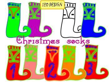 Christmas socks - Free Clip art