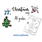 Christmas songs - ALL GRADES - English