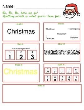 Christmas spelling fun!