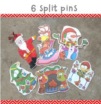 Christmas split pin pack