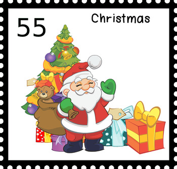 Christmas Stamps.Christmas Stamps Clipart