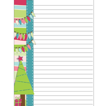 Christmas stationary:  7 lined papers