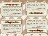 Christmas tag on gift for teachers