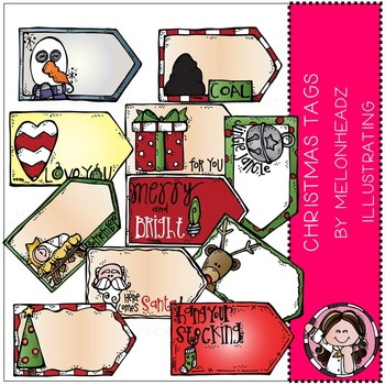 Melonheadz: Christmas tags clip art