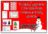 Christmas teaching bundle for prek, preschool, reception, kindergarten