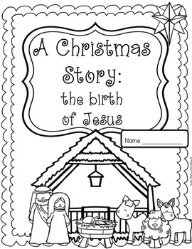 Christmas Jesus Birth Drawing.Christmas The Birth Of Jesus