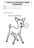 Christmas theme worksheet for 3 year olds - now working