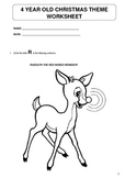 Christmas theme worksheet for 4 year olds - now working