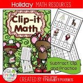 Subtraction Math Centers - Subtract, Clip and Glue - Chris