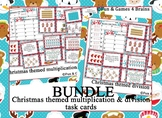 Christmas themed BUNDLE of Multiplication and Division Task Cards