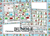 Christmas themed BUNDLE of Perimeter and Area Task Cards