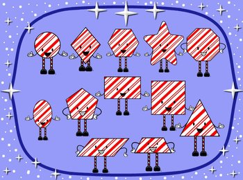 Christmas themed Geometrical Figures- Math