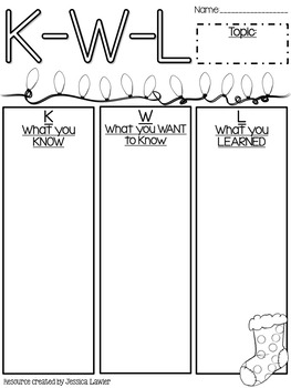 Christmas Reading Comprehension Graphic Organizers to Use with ANY Book!