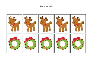 Christmas themed Pattern Cards #2 preschool printable acti