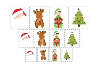 Christmas themed Size Sorting preschool learning activity.  Child Care.