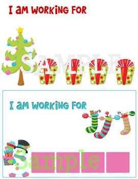 Christmas themed Token Board bundle