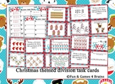 Christmas themed division Task Cards