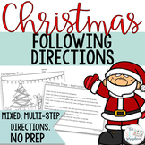 Christmas following directions coloring pack- Mixed directions