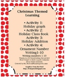 Christmas themed math learning and class book