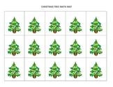 Christmas-themed math mats for preschool and K/1st grade