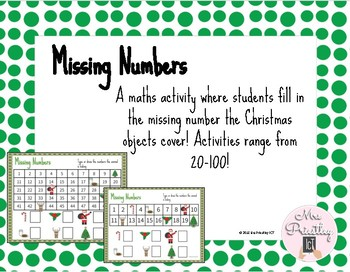 Christmas themed missing numbers